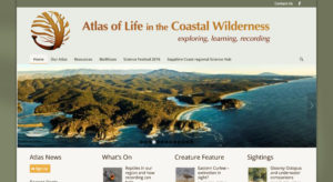 Atlas of Life in the Coastal Wilderness, wordpress web design, web design Melbourne, not for profit