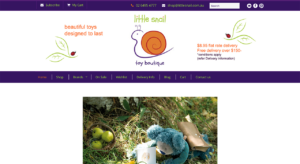 Little Snail website design, Wordpress web design Melbourne, retail, ecommerce web design, toys