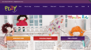Play Imports - Moulin Roty Australia - ecommerce web design, wordpress web design Melbourne, wholesale, retail